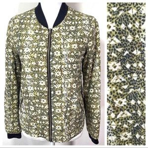 Maison Scotch  Quilted BOMBER Jacket leopard